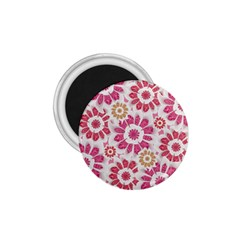 Feminine Flowers Pattern 1 75  Button Magnet by dflcprints