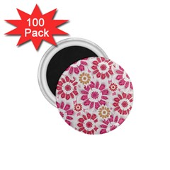 Feminine Flowers Pattern 1 75  Button Magnet (100 Pack) by dflcprints