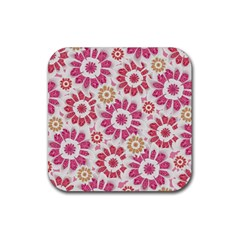 Feminine Flowers Pattern Drink Coaster (square) by dflcprints
