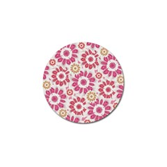 Feminine Flowers Pattern Golf Ball Marker 4 Pack by dflcprints