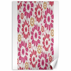Feminine Flowers Pattern Canvas 20  X 30  (unframed) by dflcprints