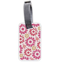 Feminine Flowers Pattern Luggage Tag (two Sides) by dflcprints