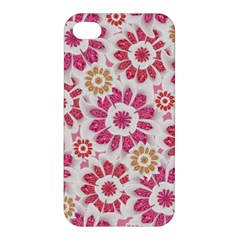 Feminine Flowers Pattern Apple Iphone 4/4s Hardshell Case by dflcprints