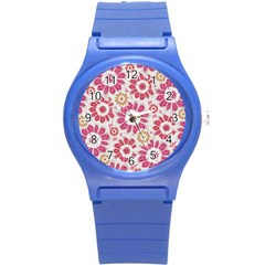 Feminine Flowers Pattern Plastic Sport Watch (small) by dflcprints
