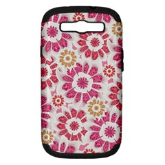 Feminine Flowers Pattern Samsung Galaxy S Iii Hardshell Case (pc+silicone) by dflcprints