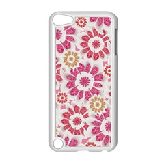Feminine Flowers Pattern Apple Ipod Touch 5 Case (white) by dflcprints