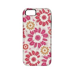 Feminine Flowers Pattern Apple Iphone 5 Classic Hardshell Case (pc+silicone) by dflcprints