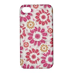 Feminine Flowers Pattern Apple Iphone 4/4s Hardshell Case With Stand by dflcprints