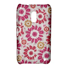 Feminine Flowers Pattern Nokia Lumia 620 Hardshell Case by dflcprints
