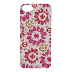 Feminine Flowers Pattern Apple Iphone 5s Hardshell Case by dflcprints