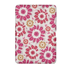 Feminine Flowers Pattern Samsung Galaxy Tab 2 (10 1 ) P5100 Hardshell Case  by dflcprints