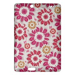 Feminine Flowers Pattern Kindle Fire Hd 7  (2nd Gen) Hardshell Case by dflcprints