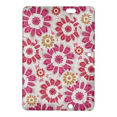 Feminine Flowers Pattern Kindle Fire Hdx 8 9  Hardshell Case by dflcprints