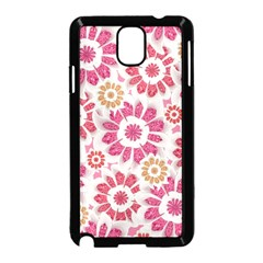 Feminine Flowers Pattern Samsung Galaxy Note 3 Neo Hardshell Case (black) by dflcprints
