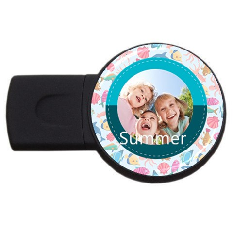 Summer By Summer Time    Usb Flash Drive Round (1 Gb)   Ghu6i9qq5hw7   Www Artscow Com Front