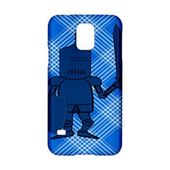 Blue Knight On Plaid Samsung Galaxy S5 Hardshell Case  by StuffOrSomething