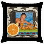 summer - Throw Pillow Case (Black)