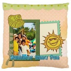 Summer By Summer Time    Large Cushion Case (two Sides)   8wtr2jeprr9l   Www Artscow Com Front