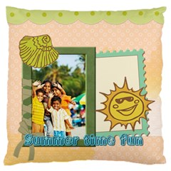 Summer By Summer Time    Large Cushion Case (two Sides)   8wtr2jeprr9l   Www Artscow Com Back