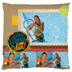 Summer By Summer Time    Large Cushion Case (two Sides)   Yrzyyu3ev6ag   Www Artscow Com Back