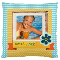 Summer By Summer Time    Large Cushion Case (two Sides)   471ttg7q212h   Www Artscow Com Front