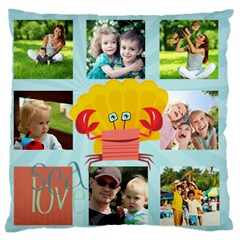 Summer By Summer Time    Large Cushion Case (two Sides)   B9tahezg9cz2   Www Artscow Com Back
