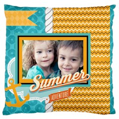 Summer By Summer Time    Large Cushion Case (two Sides)   6g74rv7rr8r8   Www Artscow Com Back
