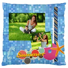 Summer By Summer Time    Large Cushion Case (two Sides)   Ajk1qbqujjtc   Www Artscow Com Back