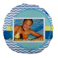 Summer By Summer Time    Large 18  Premium Round Cushion    90s7jy50j9ru   Www Artscow Com Back