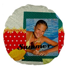 Summer By Summer Time    Large 18  Premium Round Cushion    B1b2olk93o4e   Www Artscow Com Front