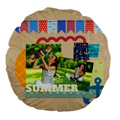 Summer By Summer Time    Large 18  Premium Round Cushion    1rlv2p245m7o   Www Artscow Com Front