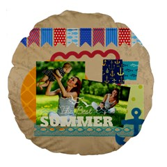 Summer By Summer Time    Large 18  Premium Round Cushion    1rlv2p245m7o   Www Artscow Com Back