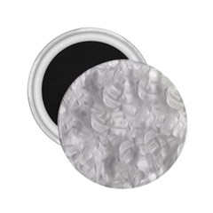 Abstract In Silver 2 25  Button Magnet by StuffOrSomething