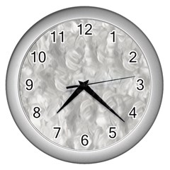 Abstract In Silver Wall Clock (silver) by StuffOrSomething