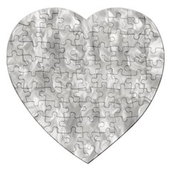 Abstract In Silver Jigsaw Puzzle (heart) by StuffOrSomething