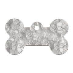 Abstract In Silver Dog Tag Bone (two Sided)