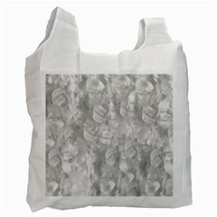 Abstract In Silver White Reusable Bag (one Side) by StuffOrSomething