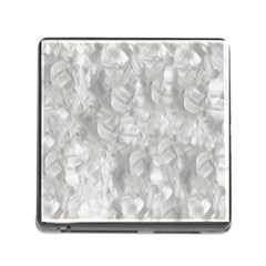 Abstract In Silver Memory Card Reader With Storage (square) by StuffOrSomething