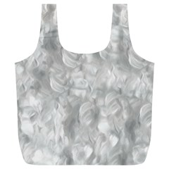 Abstract In Silver Reusable Bag (xl) by StuffOrSomething