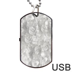 Abstract In Silver Dog Tag Usb Flash (two Sides) by StuffOrSomething