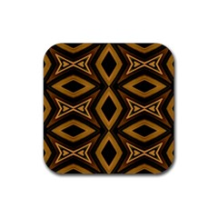 Tribal Diamonds Pattern Brown Colors Abstract Design Drink Coaster (square) by dflcprints
