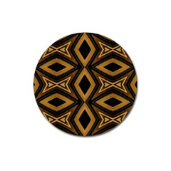 Tribal Diamonds Pattern Brown Colors Abstract Design Magnet 3  (round) by dflcprints