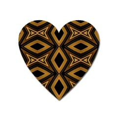 Tribal Diamonds Pattern Brown Colors Abstract Design Magnet (heart) by dflcprints