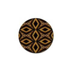 Tribal Diamonds Pattern Brown Colors Abstract Design Golf Ball Marker 10 Pack by dflcprints