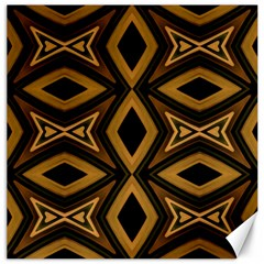 Tribal Diamonds Pattern Brown Colors Abstract Design Canvas 16  X 16  (unframed) by dflcprints