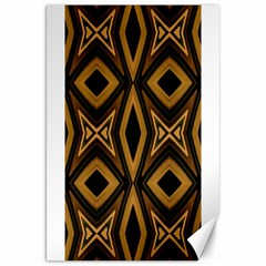 Tribal Diamonds Pattern Brown Colors Abstract Design Canvas 20  X 30  (unframed) by dflcprints