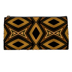 Tribal Diamonds Pattern Brown Colors Abstract Design Pencil Case by dflcprints