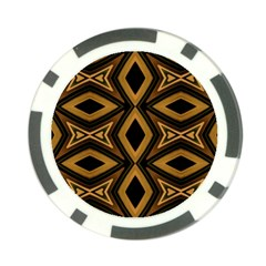 Tribal Diamonds Pattern Brown Colors Abstract Design Poker Chip (10 Pack) by dflcprints