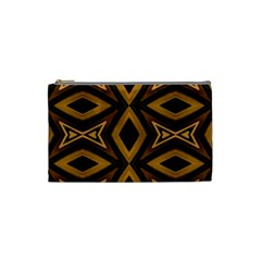 Tribal Diamonds Pattern Brown Colors Abstract Design Cosmetic Bag (small) by dflcprints