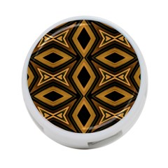 Tribal Diamonds Pattern Brown Colors Abstract Design 4 Port Usb Hub (one Side) by dflcprints